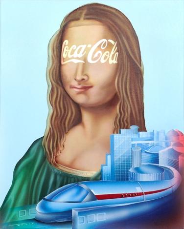 Diego Valentinuzzi, IL VOLTO DELLENIGMA, mixed media on canvas, 50 x 40 cm,