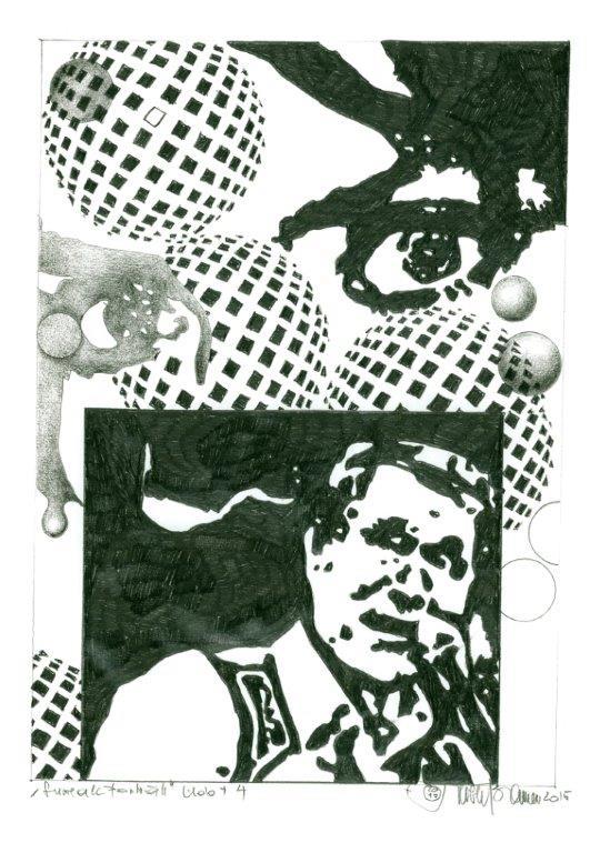 Herbert Bauer, UDO JÜRGENS No 3, Grafitstift auf Papier,