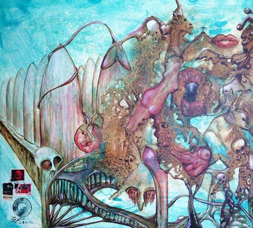Jürgen Bley, Liebe, Tod & Teufel, 50 x 70 x 5 cm, Acryl auf Leinwand, 2015