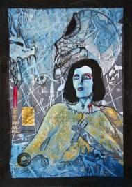 Jürgen Bley, FEAR, series Nosferatu, 30 x 21 cm, mixed media on paper, 2015