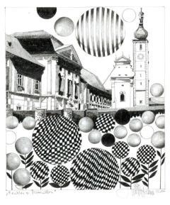 """Geras, UNIKAT, Orig. Grafitstiftzeichnung, 30 x 21cm, 2014, aus der Serie """"REALES & SURREALES"""""""