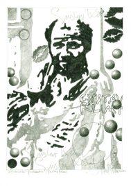Herbert Bauer, GUSTAV KLIMT, 30 x 21 cm, graphit pen on paper, 2015