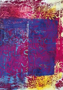 Gerlinde Kosina, ES IST WAS ES IST - ES IST DIE LIEBE, 29.7 x 21 cm, acrylic on canvas, 2015