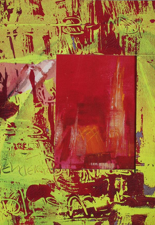 Gerlinde Kosina, VIENNA CALLING, 29.7 x 21 cm, acrylic on canvas, 2015