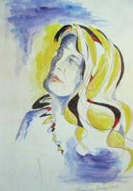 Regina Merta, BE HAPPY, 29.7 x 21 cm, mixed media on paper, 2015