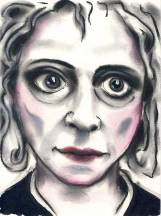 Herwig Maria Stark, ETHEL, series History Repeating, 28.5 x 21 cm, mixed media on paper, 2015