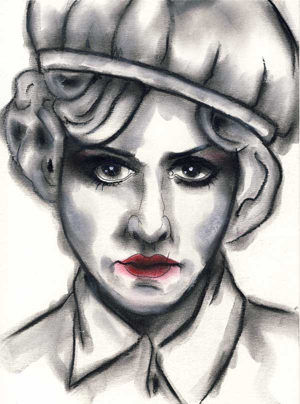 Herwig Maria Stark, MAUDE, series History Repeating, 28.5 x 21 cm, mixed media on paper, 2015