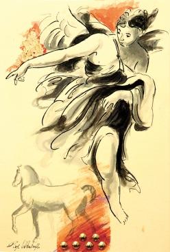 Diego Valentinuzzi, VENETIAN VISIONS, 29.7 x 21 cm, mixed media on paper, 2015