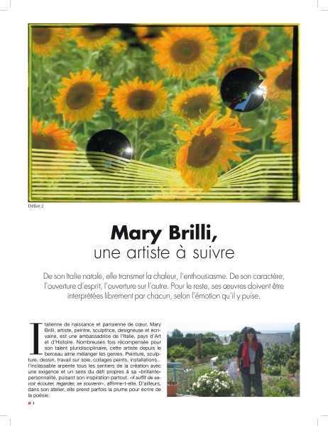 1_Artikel über Mary Brilli im Magazin C' MAISON & JARDIN