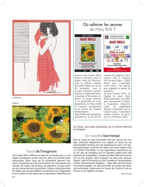3_Artikel über Mary Brilli im Magazin C' MAISON & JARDIN