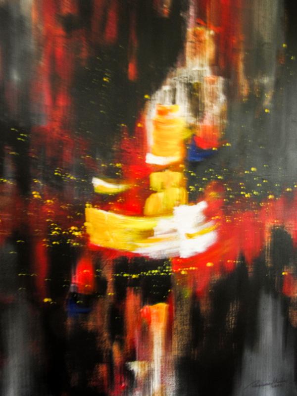Regina Merta, LEBENSSCHIFF, 100 x 80 cm, Acryl auf Leinen, 2012