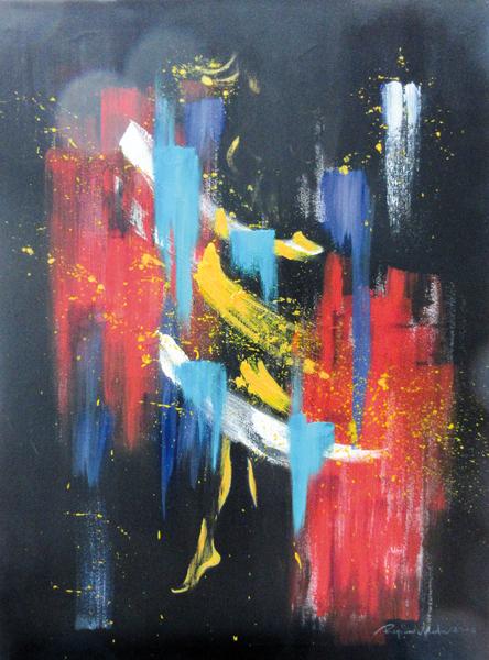 Regina Merta, BUNTES LEBEN - BUNTE ARCHITEKTUR I, acrylic on canvas, 80 x 60 cm