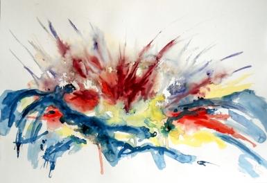 Darius Foroutan, PROTEA AFRICANUS, watercolour on drawing board, 48 x 70 cm, 2013