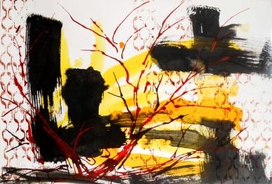 Darius Foroutan, DREAMLAND, ink on drawing board, 48 x 70cm, 2012