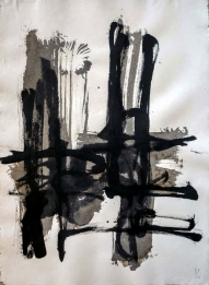 Darius Foroutan, COMPOSITION (14), ink on vat paper, 70 x 50 cm, 2016