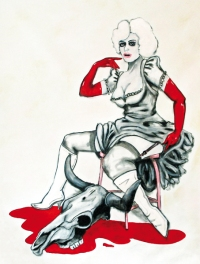 Herwig Maria Stark, YOU'RE HISTORY, mixed media on canvas, 153 x 132 x 4,5 cm, 2013