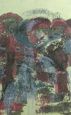 Jürgen Haupt, BABUSCHKA, Mischtechnik auf Leinwand, 150 x 94 cm, 2016