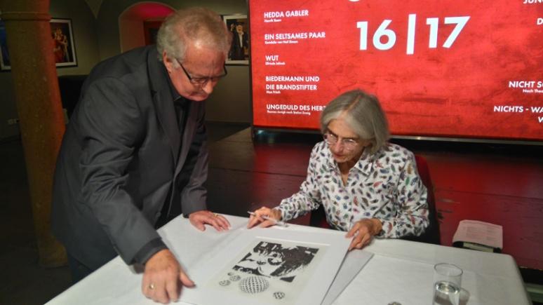 Herbert Bauer und Donna Leon, Salzburg 2016