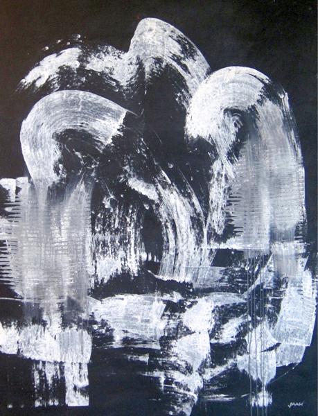Jürgen Haupt, TSUNAMI, Mischtechnik auf Leinwand, 150 x 116 cm, 2015