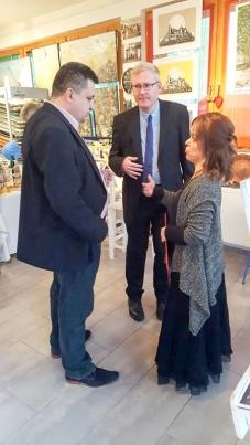 Bürgermeister Mirsad Mamutagic, Gesandter - Botschaftsrat Dr. Wolfgang Thill, Prof. Admira Bradaric
