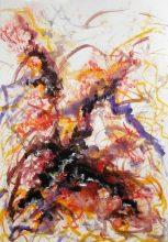 DARIUS FOROUTAN, Composition 3, watercolor on drawing board, 2013, 48 x 70 cm gerahmt und verglast in schwarzem Holzrahmen (57 x 79 cm mit Rahmen),signiert, datiert u. rückseitig mit Atelierstempel versehen