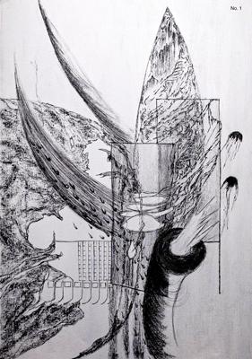Lorraine Cross, Trough a Glass Darkly, Acrylic, charcoal, pastel, Chalk, 60 x 40 cm