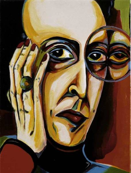 Herwig Maria Stark, La Bigotteria, Acryl auf Leinen, 40 x 30 cm, 2004