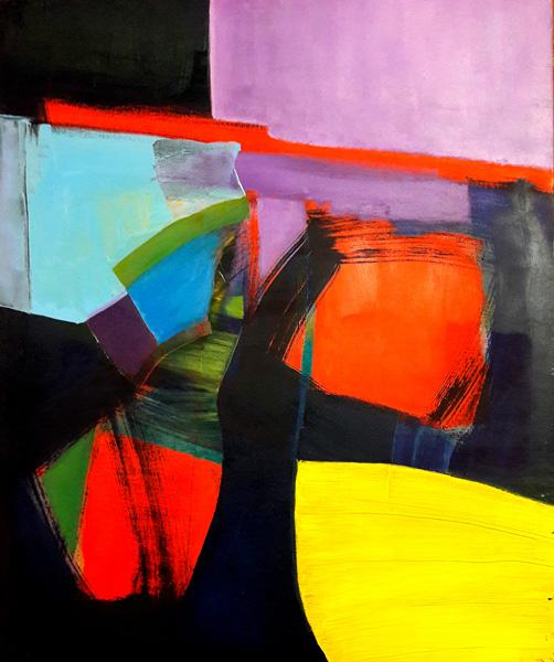 Alessandra Bisi, Notte d'Estate, Öl auf Leinen, 50 x 60 cm