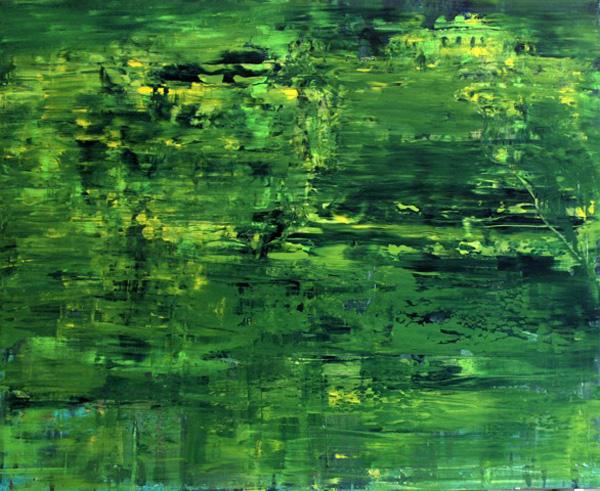 Gerlinde Kosina, Gloriette, Öl auf Leinen, 80 x 100 cm