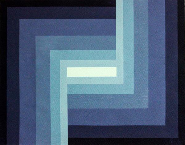 Domingo Parada, Inner Search, Acryl auf Leinen, 46 x 56 cm