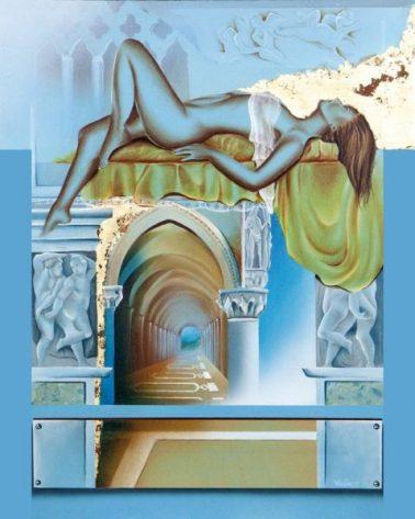 Diego Valentinuzzi, PENSIER SOSPENSI, 50 x 40 cm, olio su tela