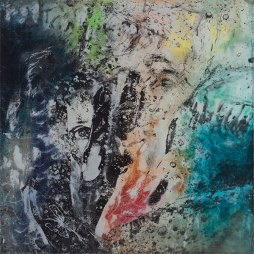 Atelier Coolpool (Daisy+Manfredo) – ALICE, 95 x 95 cm, Photography exposure, oil on canvas, 2016
