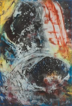 Atelier Coolpool (Daisy+Manfredo) – DER PRIMAT, 140 x 95 cm, Photography exposure, oil on canvas, 2015