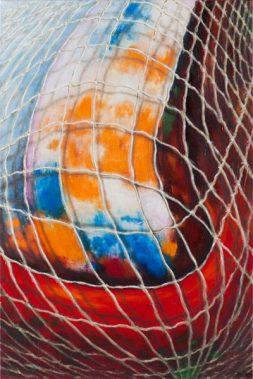 Daisy Gold, FISCHERNETZ, Öl auf Leinwand, 90 x 60 cm, 2016
