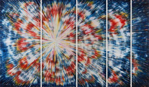 Daisy Gold, ORDNUNG UND CHAOS, Öl auf Leinwand, 150 x 250 cm, 2014