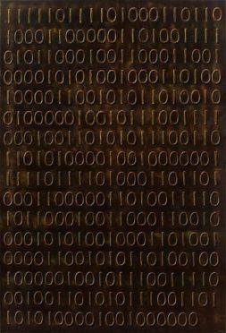 Daisy Gold, THE DARK BINÄR, Öl auf Leinwand, 140 x 95 cm, 2017