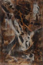 Manfredo Weihs, CLOCKWERK ORANGE, 80 x 120 cm, photography exposure, acrylic on canvas, 2014