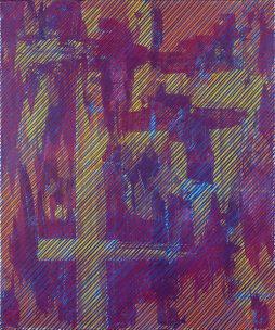 Manfredo Weihs, DIAGONAL, acrylic on canvas 100x120 cm, 2016