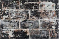 Manfredo Weihs, MAUERTRANSFER, 90 x 60 cm, mixed media, acrylic on canvas, 2016