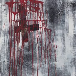 Manfredo Weihs, SPRACHLOS, 60 x 80 cm, photography exposure, acrylic on canvas, 2016