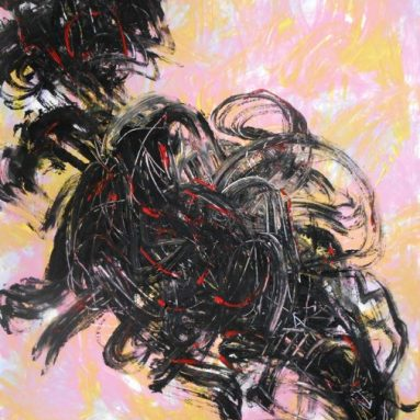 Darius Foroutan, AUSLÖSCHUNG, Acryl auf Karton, 80 x 100 cm, 2019