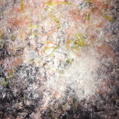 Darius Foroutan, APOTHEOSE, Acryl auf Karton, 50 x 70 cm, 2018