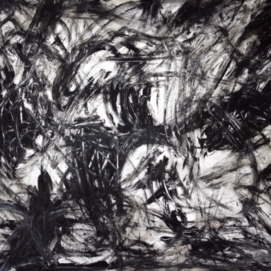 Darius Foroutan, TEMPI DURI, Acryl auf Karton, 50 x 70 cm, 2018