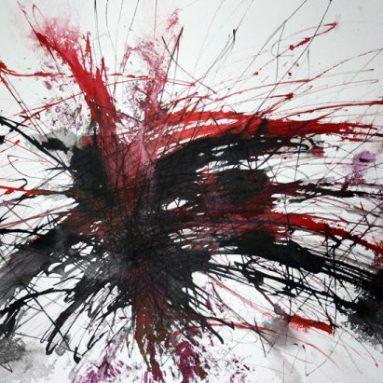 Darius Foroutan, EXTASE, Tusche auf Zeichenkarton, 50 x 70 cm, 2017