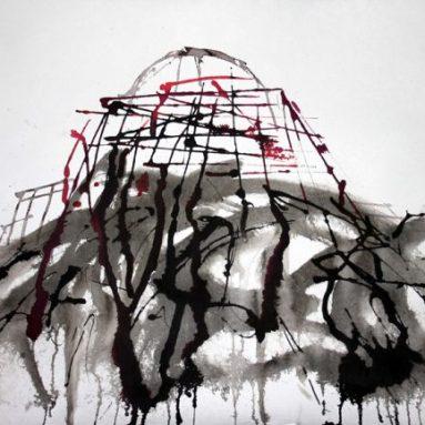 Darius Foroutan, ARCHITECTURAL STUDY, Tusche auf Bütten, 50 x 70 cm, 2017