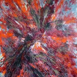 Darius Foroutan, STERNENBERSTEN, Acryl auf Karton, 50 x 70 cm, 2017