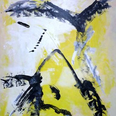 Darius Foroutan, PROMETHEUS, Acryl auf Karton, 80 x 100 cm, 2017