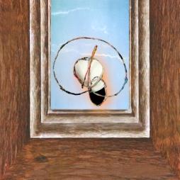 Mario Kicker, POLYPTYCHX F2, 25 cm x 25 cm, Photomontage auf Plexiglas, 2019