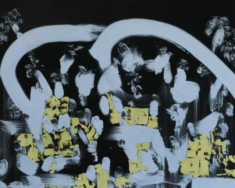 Jürgen Haupt, CRAZY GIRLS, 80 x 100 cm, Mischtechnik auf Leinwand, 2019