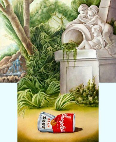 """Diego Valentinuzzi, """" CRISTALLIZZAZIONE DI UNA MEMORIA"""" 60 x 50 cm, olio su tela"""